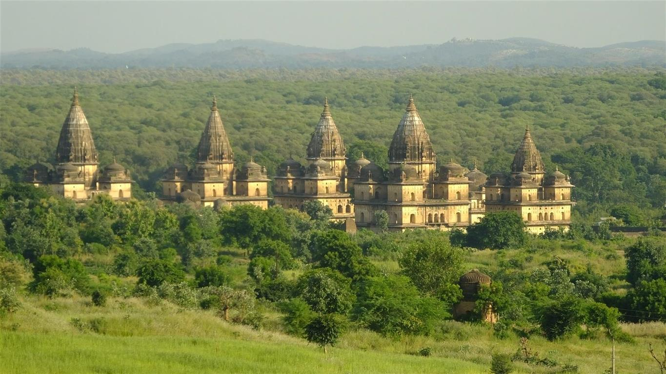 Chatris in Orchha